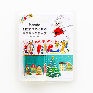 Bande Tape Set of 2 Masking Roll Stickers, Christmas City, for Scrapbooking DIY (BDA260)
