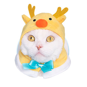 White Christmas Hat for Cats (Kawaii kawaii Neko White Christmas-chan)