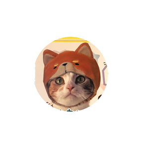 Pop Animal Hat for Cats (Kabutte Pop Animal Costume Nyanko)