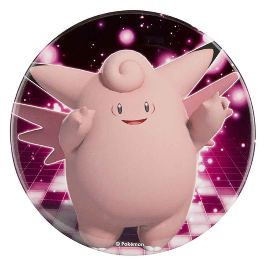 "Pokemon Center Big Can Badge ""Clefable"""