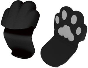 Meow Cat Paw Silicone Pot Holder with Magnet, Black Cooking Pinch Grips APSS-901 (1 piece)