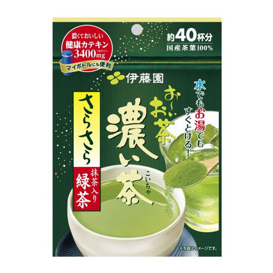 Itoen Oi Dark Green Tea with Matcha Sarasara - Instant Powder 32g (40 Cups)