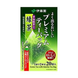 Itoen Ryokucha Green tea Matcha Blend Premium bag Pack of 20