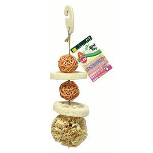 Sanko Natural Bird Chewing Toys Bundle: Acorn, Ball and Fruits
