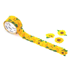 Bande Masking Roll Sticker Masking Tape Mini Sunflower for Scrapbooking DIY (BDA234)