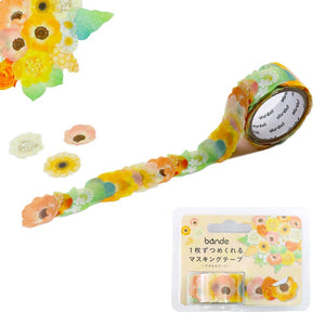 Bande Masking Roll Sticker Masking Tape Anemone Bouquet for Scrapbooking DIY (BDA271)