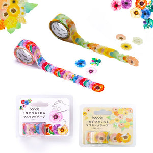 Bande Flowers Stickers Set of 1 Anemone Bouquet (BDA 271) and 1 Anemone (BDA 206) Bande Tape, with a Message Card