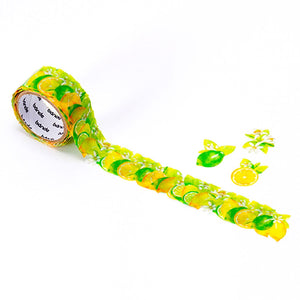Bande Masking Roll Sticker Masking Tape Lemon & Lime for Scrapbooking DIY (BDA235)