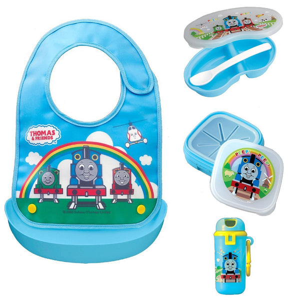 OSK Thomas the Train Bib and Picnic Lunch Box Set for Babies (4 items) Thomas