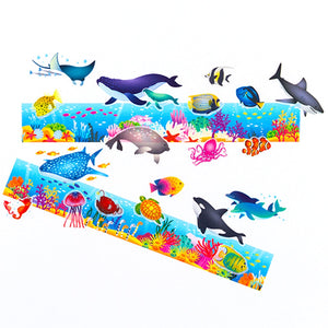 Bande Set of 3 Masking Roll Sticker Masking Tape Sea Friends for Scrapbooking DIY (BDA236)