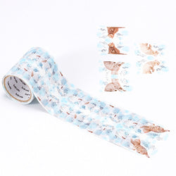 Bande Masking Roll Sticker Cat and fish Stickers for Book or Note Indexing