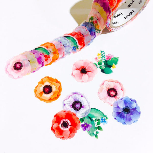 Bande Masking Roll Sticker Anemone for Scrapbooking DIY