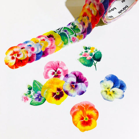 Bande Masking Roll Sticker Pansy for Scrapbooking DIY