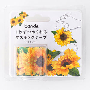 Bande Masking Roll Sticker Masking Tape Sunflower for Scrapbooking DIY (BDA233)