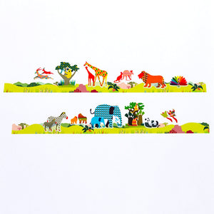Bande Masking Roll Sticker Masking Tape Safari for Scrapbooking DIY (BDA222)