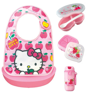 OSK Hello Kitty Bib and Picnic Lunch Box Set for Babies (4 items) Hello Kitty