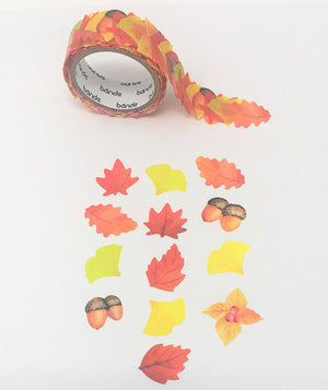 Bande Tape Masking Roll Stickers, Autumn Leaves, for Scrapbooking DIY (BDA240)