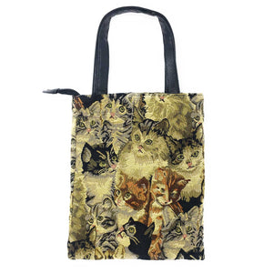 Gobelin Stitch Cute Watching Cats Tote Bag