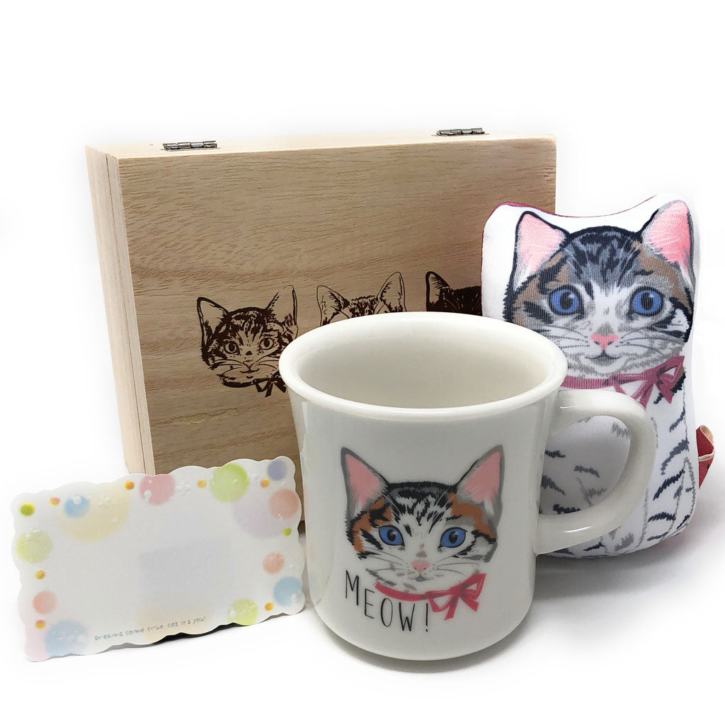 Cat Mug And Hand Rest Gift Set With Message Card For Lovers