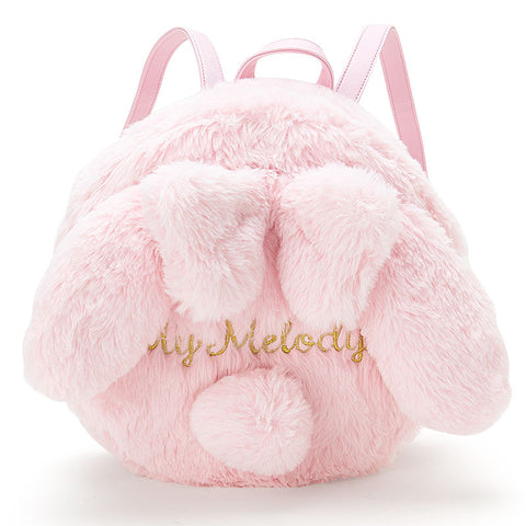 Sanrio Japan My Melody Ears Fake Fur Rounded Backpack