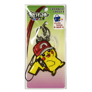 Pokemon Center Original Pikachu Red Hat XYZ Spangle Charm Key chain - Route19 Store