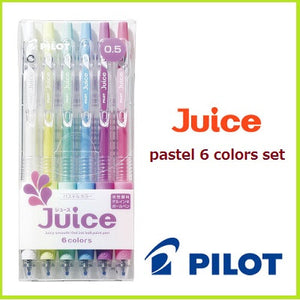 Pilot Juice Gel Ink Ball point Pen - 0.5 mm - 6 Color Set - Pastel
