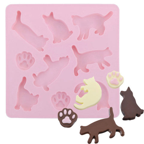 Cat Shaped Silicone Chocolate, Jelly and Candy Mold