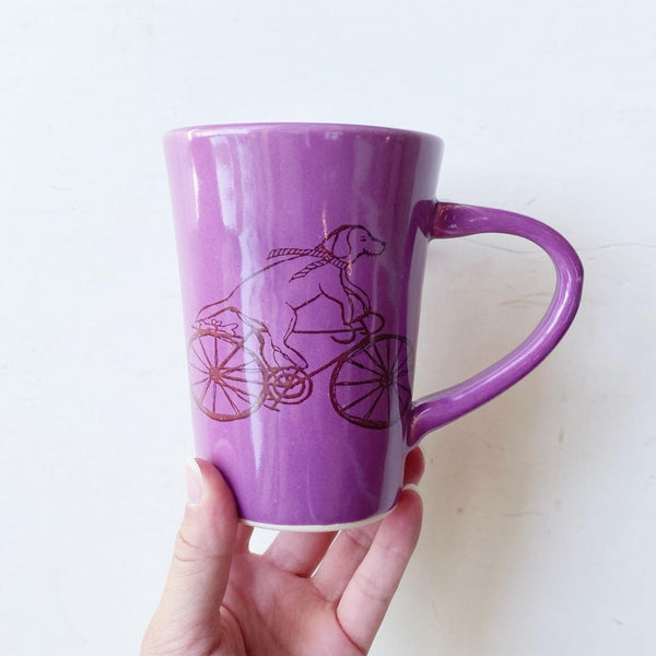 Biking Dog Mug