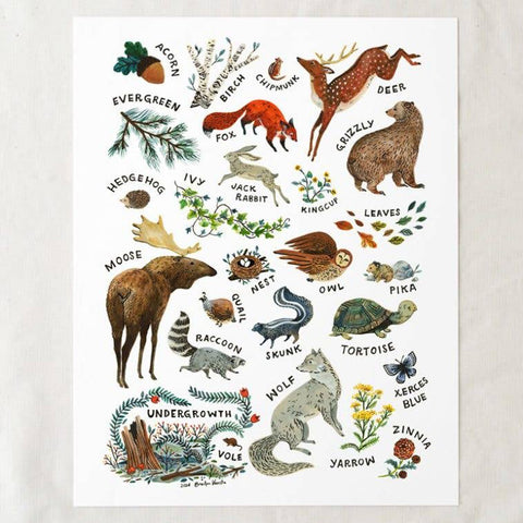 ABC Wilderness Print