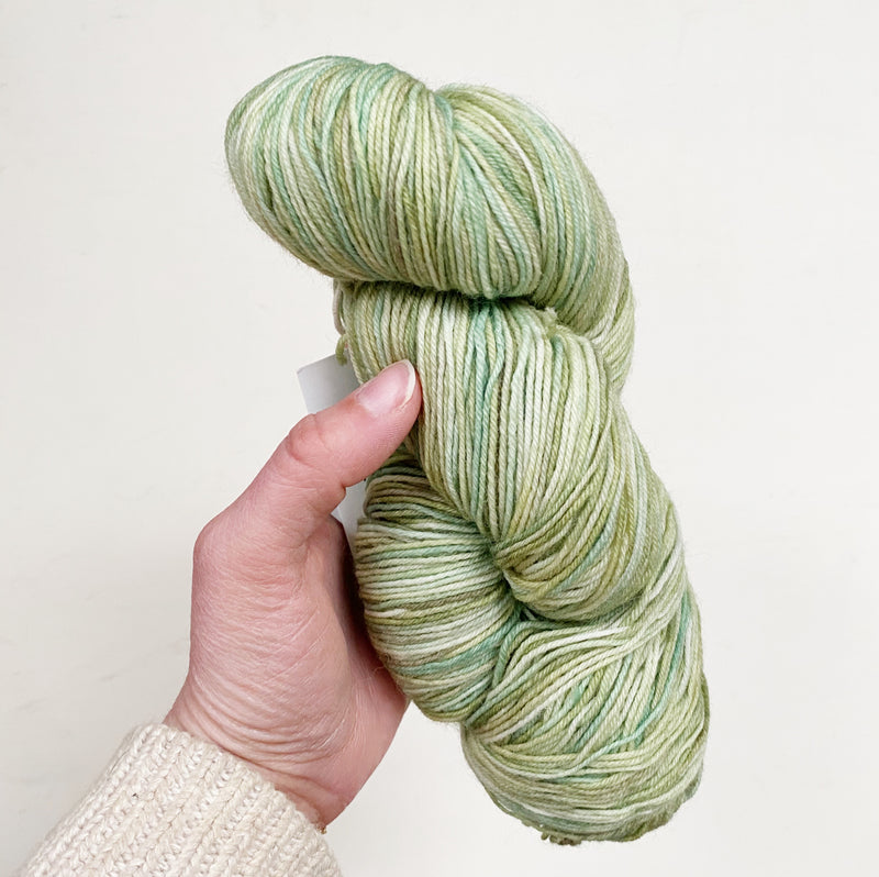 Green Blue-Faced Leicester Hand-Dyed Merino Sock Yarn