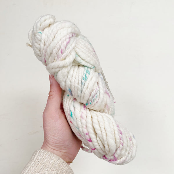 Hand-Spun Rambouillet and Silk Yarn