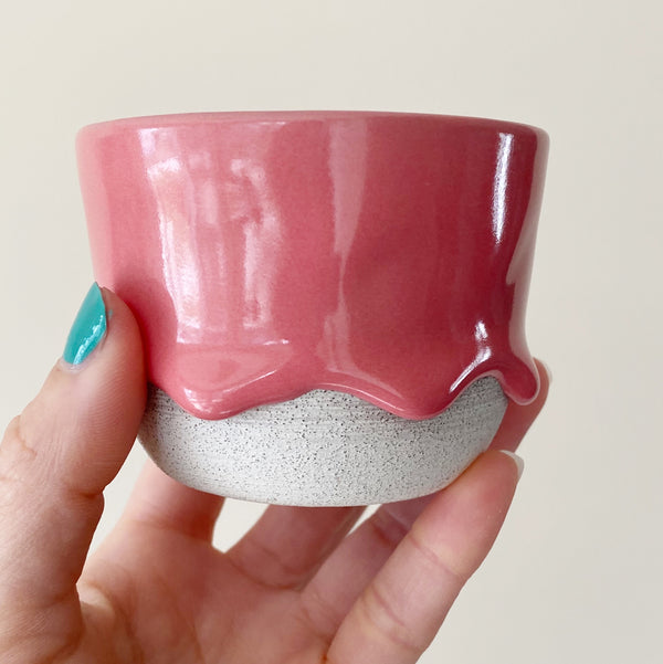 Drippy Oolong Tea Cup in Dusty Rose