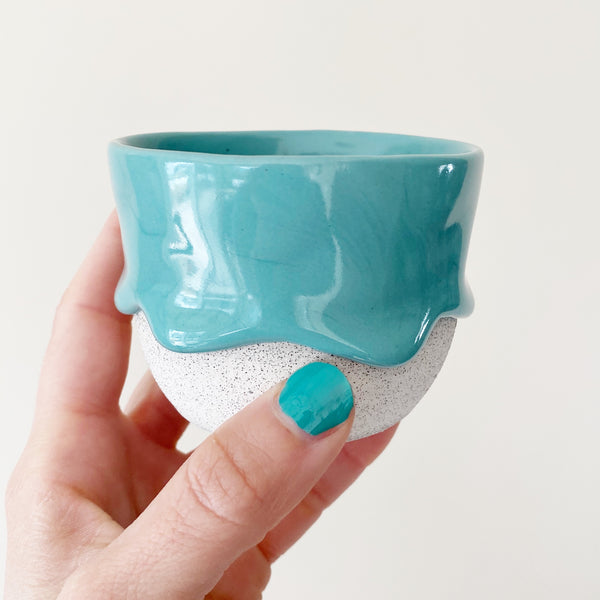 Drippy Oolong Tea Cup in Sea Green