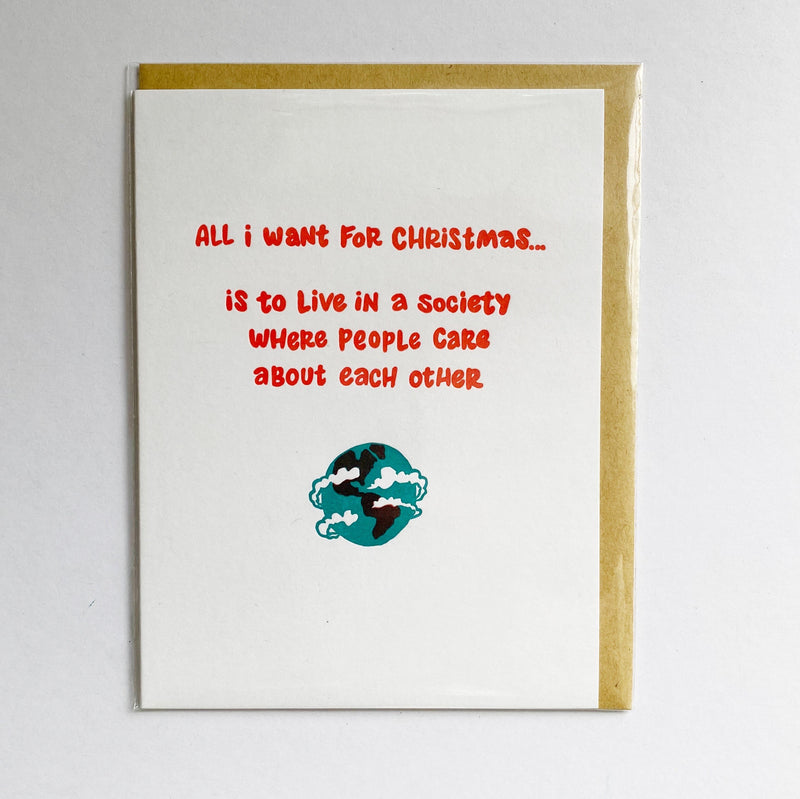 Caring christmas card
