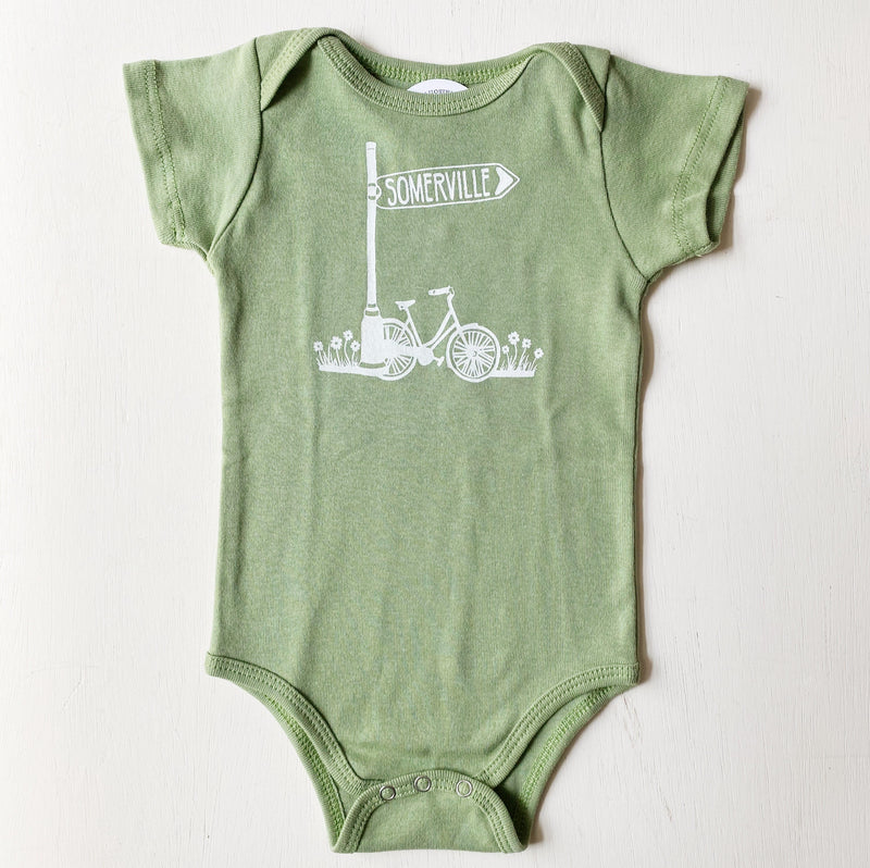 Somerville Bike Baby One-Piece Romper