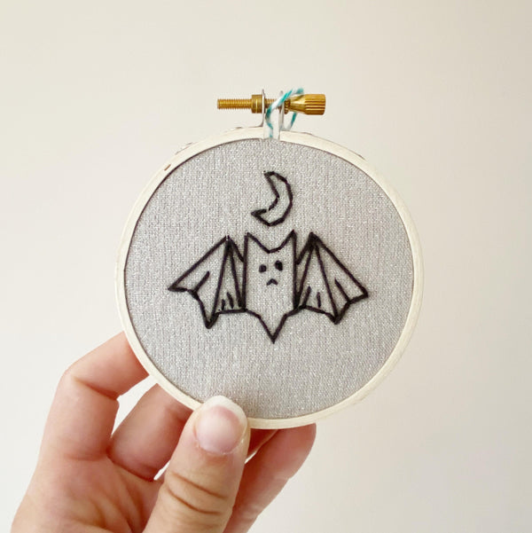 Little Bat Hand-Stitched Embroidery