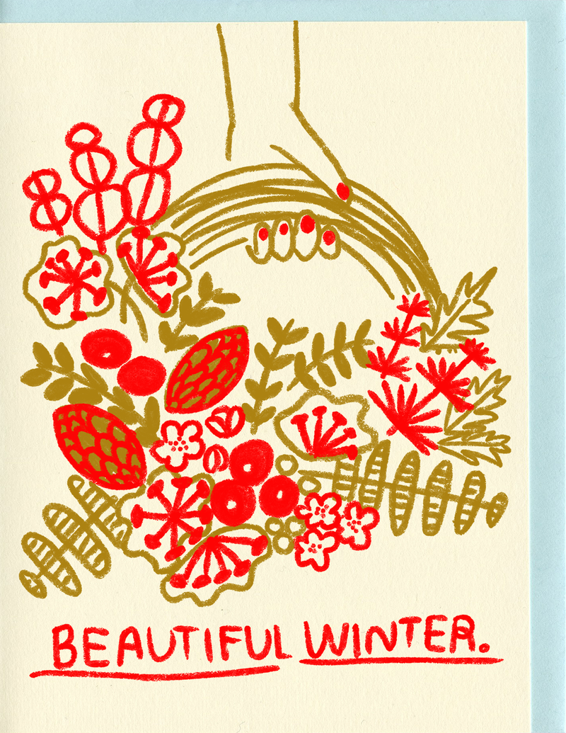 Beautiful winter greeting card