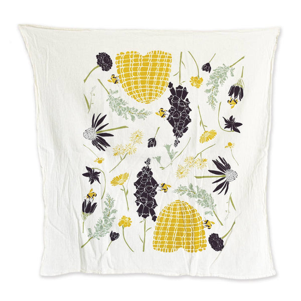 Bee Garden Tea Towel