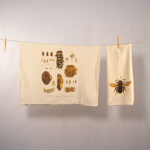 bees tea towel set