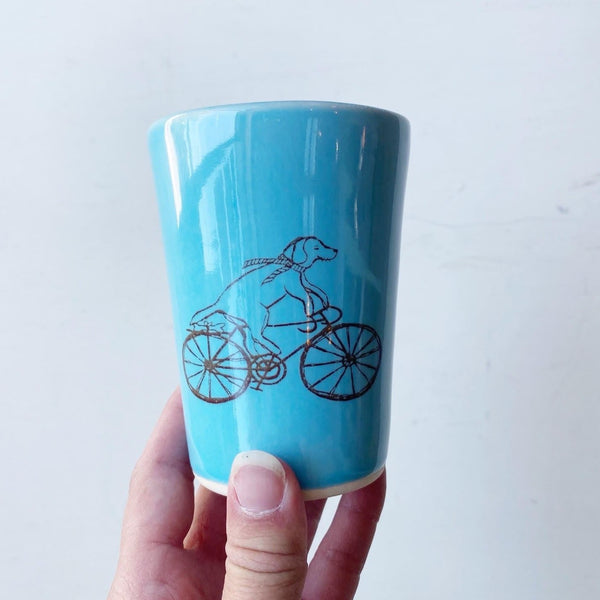 Biking Dog Ceramic Cup