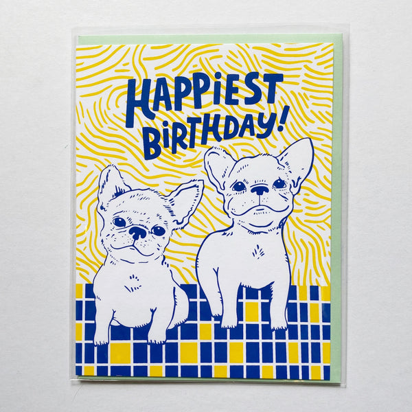 Birthday card with dogs