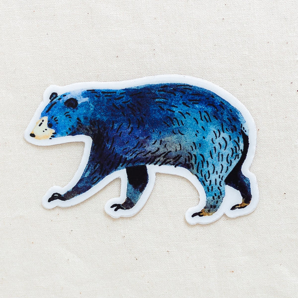 Blue bear vinyl sticker