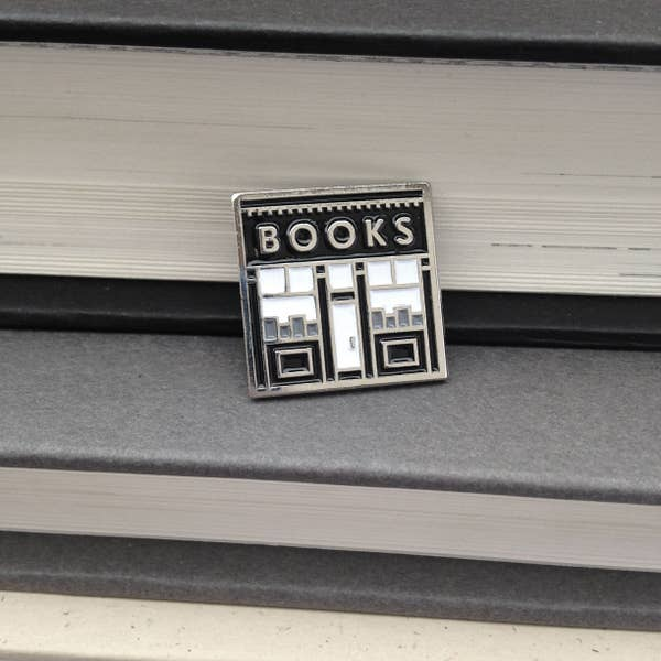 Book Shop Enamel Pin pic 2