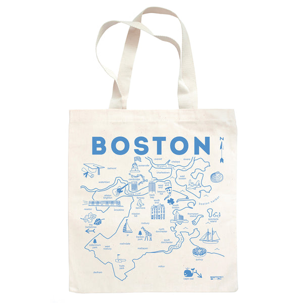 Boston Cotto9n Tote Bag