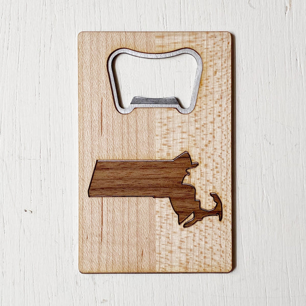 Massachusetts Wood Bottle Opener