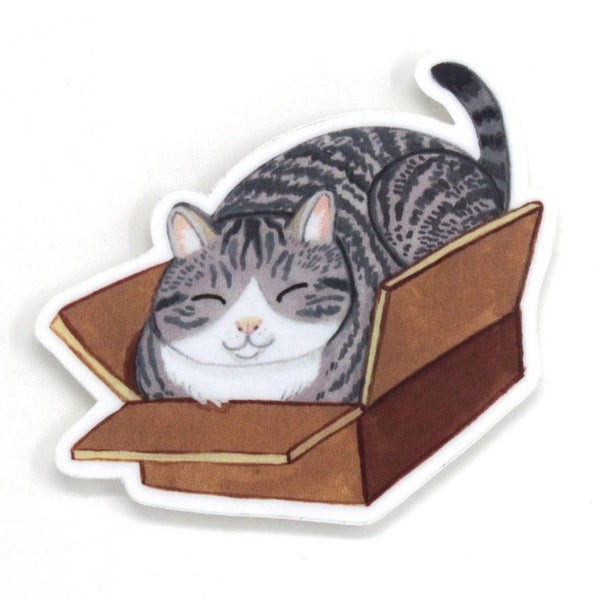 Cat in a Box Sticker