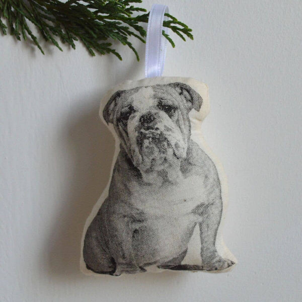 Bulldog Plush Ornament