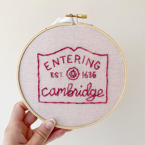 Entering Cambridge Embroidery