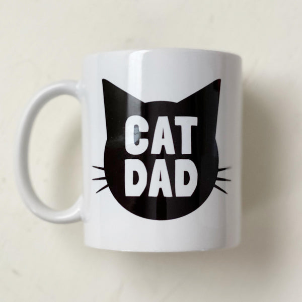 Cat Dad Mug white