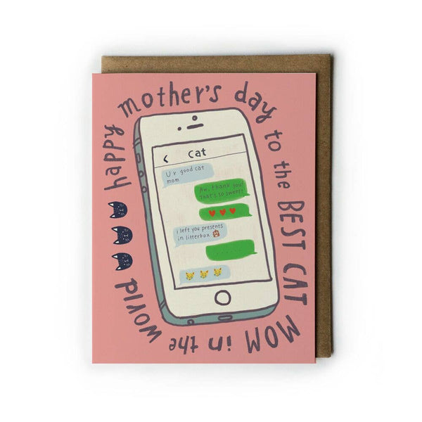 Cat Mom Mother's Day Greeting Card